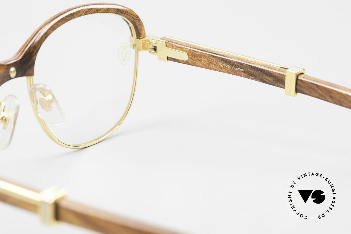 Cartier Malmaison Diego A. Maradona Holzbrille, Größe: small, Passend für Herren und Damen