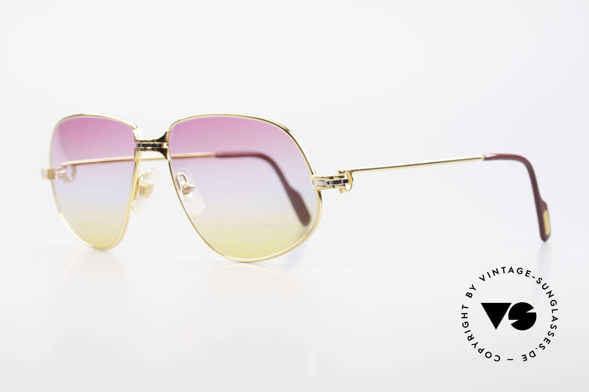 Cartier Panthere G.M. - L Sunrise Gläser Mit Bvlgari Etui, wurde 1988 veröffentlicht und dann bis 1997 produziert, Passend für Herren und Damen
