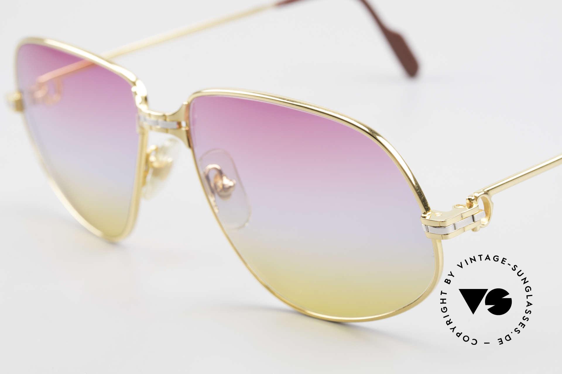 Cartier Panthere G.M. - L Sunrise Gläser Mit Bvlgari Etui, teure Luxus-Sonnenbrille in LARGE Größe 59-16, 140, Passend für Herren und Damen
