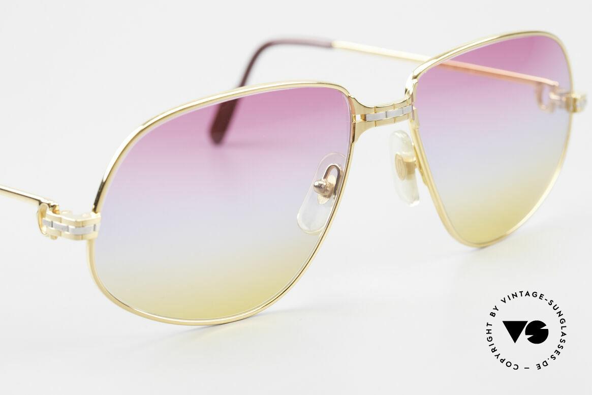 Cartier Panthere G.M. - L Sunrise Gläser Mit Bvlgari Etui, 22kt vergoldet und mit Gläsern wie ein Sonnenaufgang, Passend für Herren und Damen