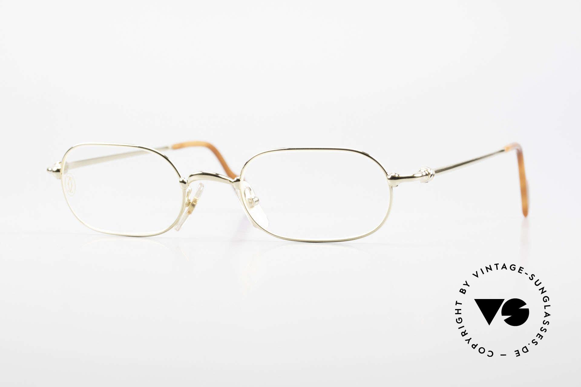 Cartier Orfy 90er Luxusbrille Eckig Unisex, eckige vintage Cartier Luxus-Brille der späten 1990er, Passend für Herren und Damen