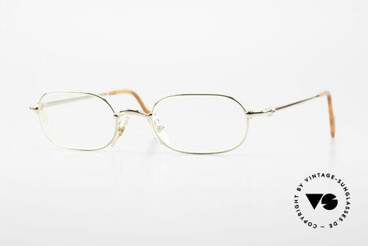 Cartier Orfy 90er Luxusbrille Eckig Unisex Details