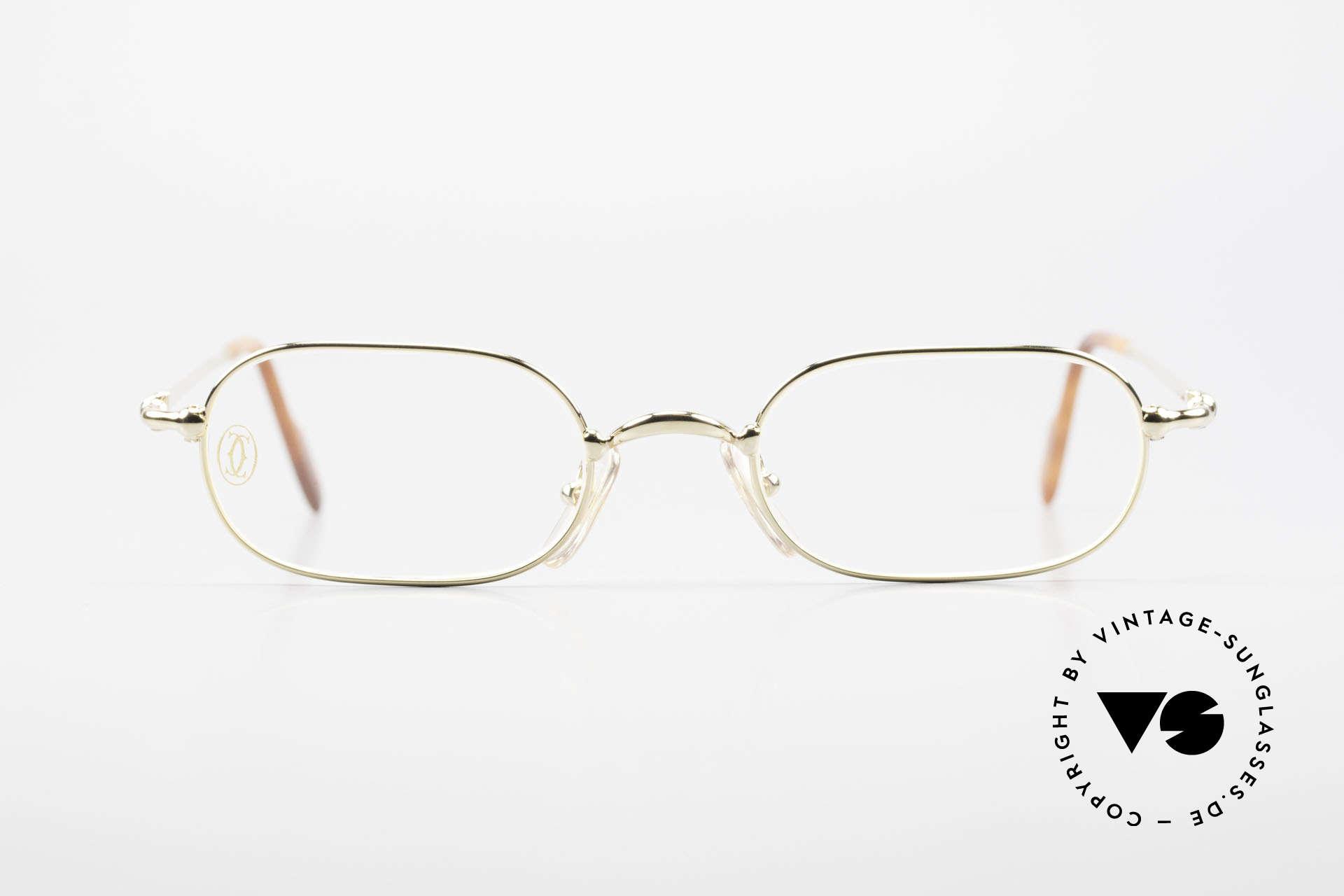 Cartier Orfy 90er Luxusbrille Eckig Unisex, ORFY = Modell aus der Cartier 'Thin Rim' Collection, Passend für Herren und Damen