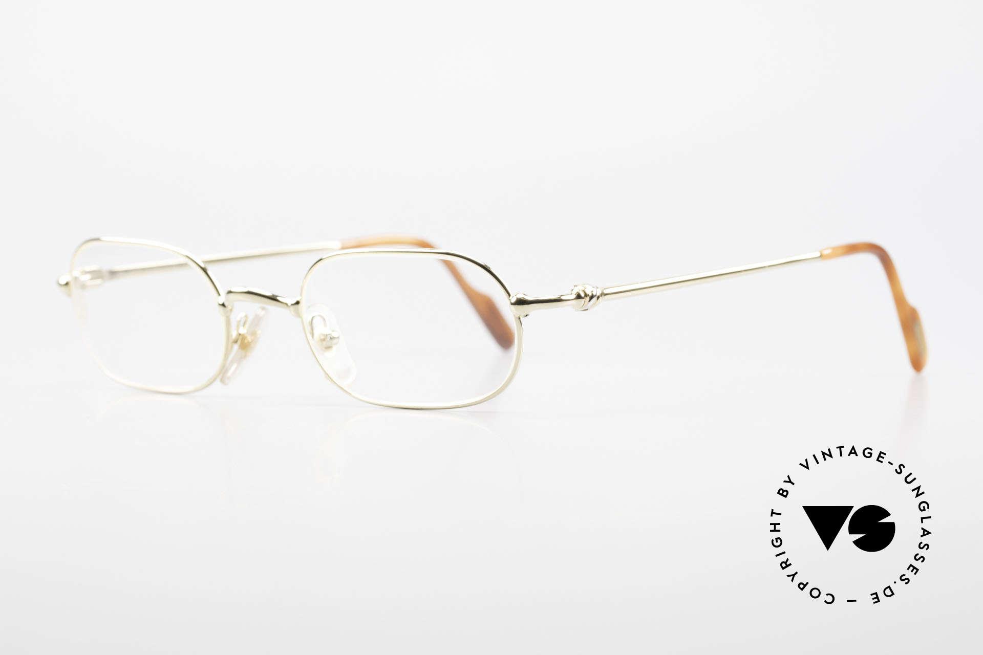 Cartier Orfy 90er Luxusbrille Eckig Unisex, leichter flexibler Rahmen für höchsten Tragekomfort, Passend für Herren und Damen