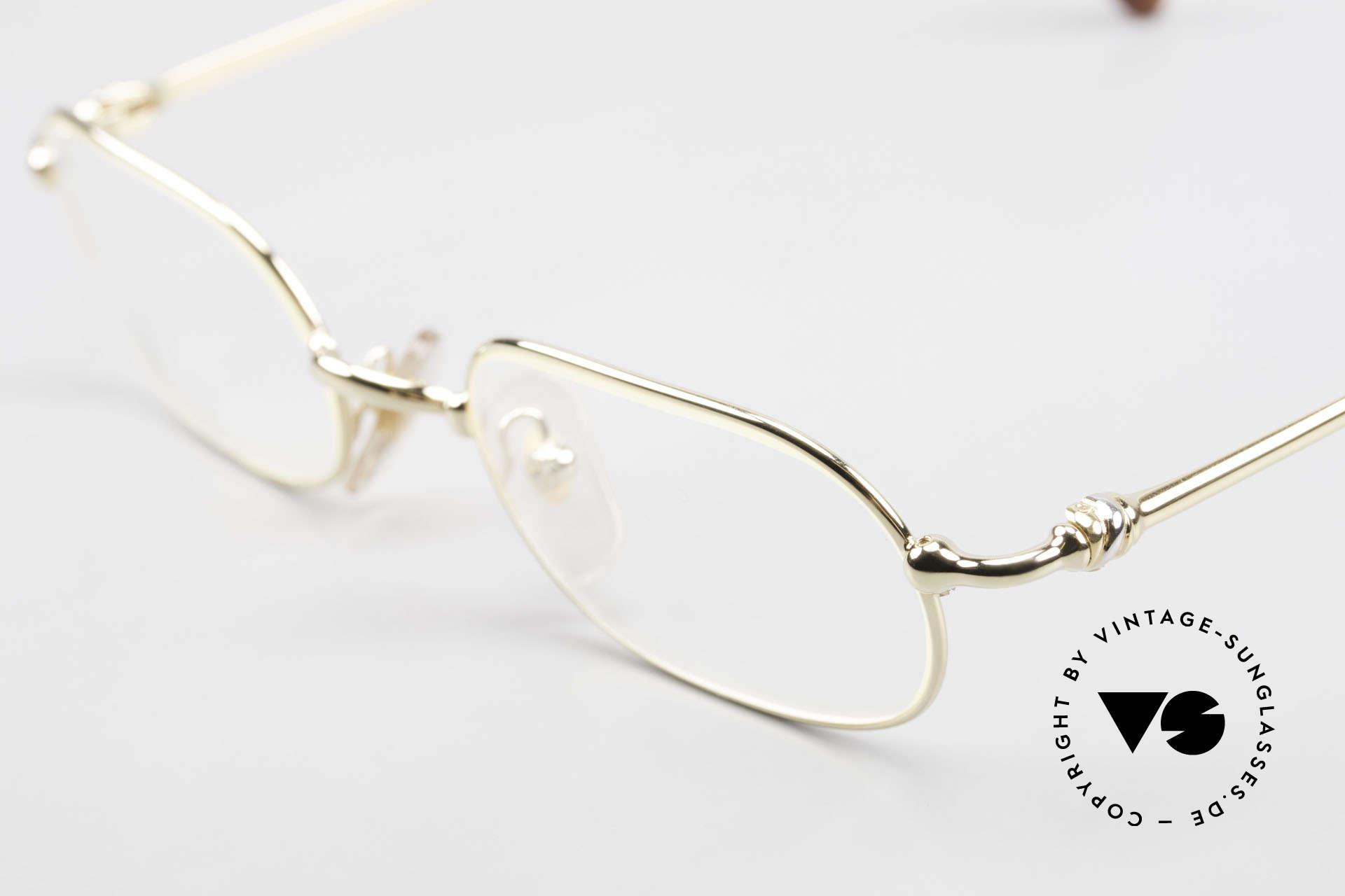 Cartier Orfy 90er Luxusbrille Eckig Unisex, 22kt vergoldete Metall-Fassung in Größe 50-21, 140, Passend für Herren und Damen