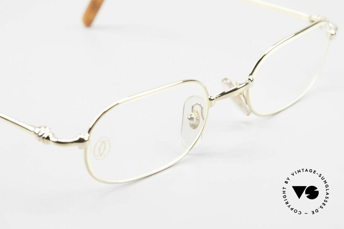 Cartier Orfy 90er Luxusbrille Eckig Unisex, ungetragenes Einzelstück inkl. orig. Cartier Zubehör, Passend für Herren und Damen