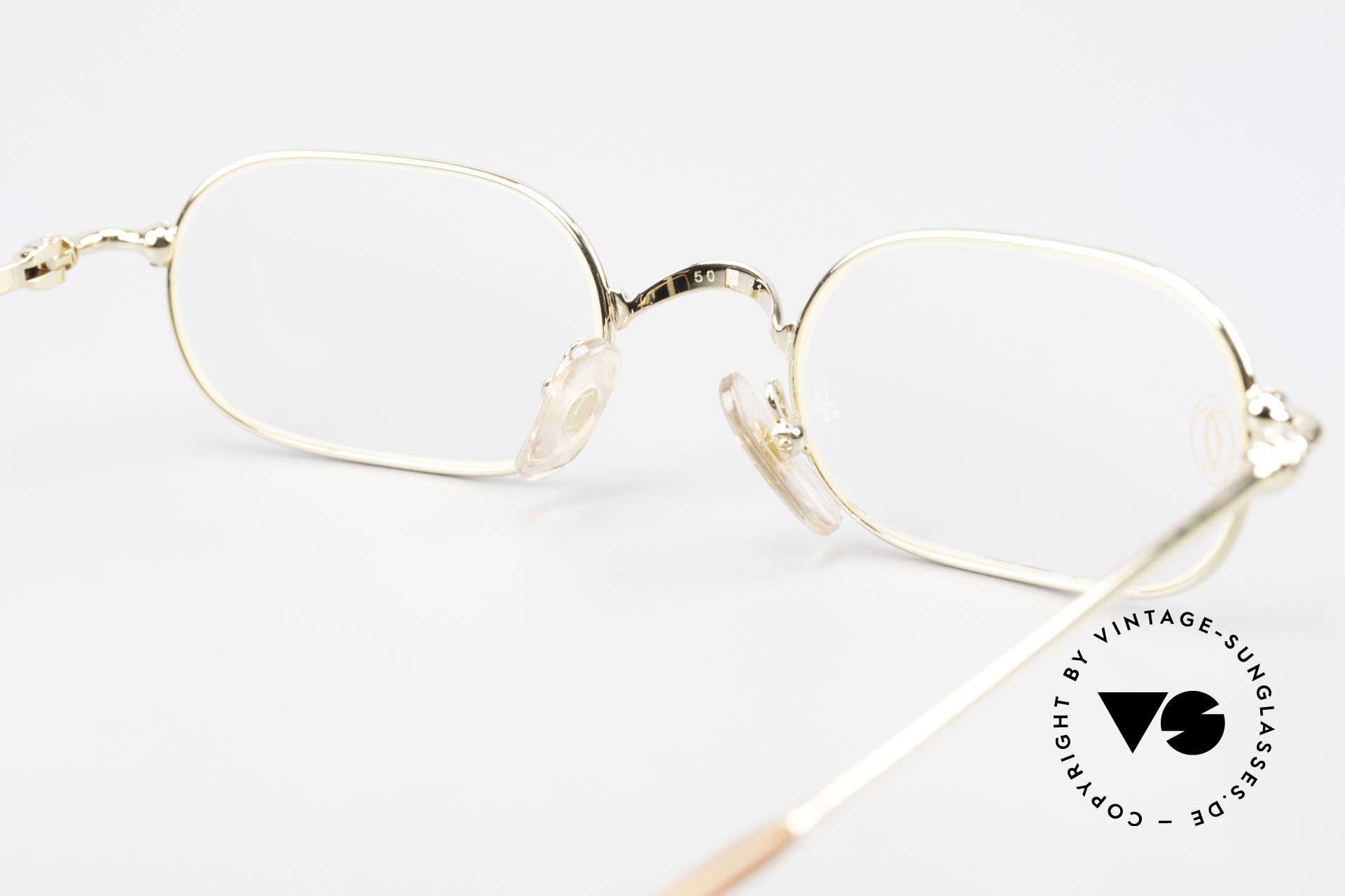 Cartier Orfy 90er Luxusbrille Eckig Unisex, KEIN RETRO, sondern ein kostbares altes ORIGINAL!, Passend für Herren und Damen