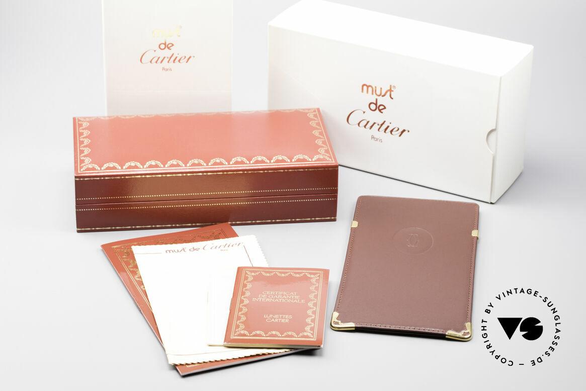 Cartier Orfy 90er Luxusbrille Eckig Unisex, Größe: medium, Passend für Herren und Damen