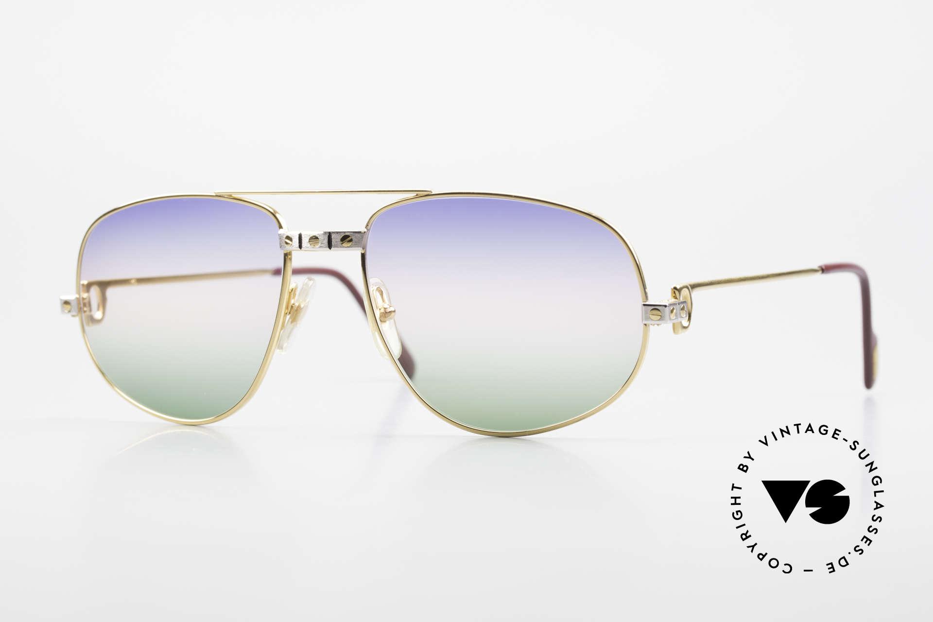 Cartier Romance Santos - L Luxus Vintage Sonnenbrille, vintage CARTIER Luxus-Sonnenbrille; Modell ROMANCE, Passend für Herren