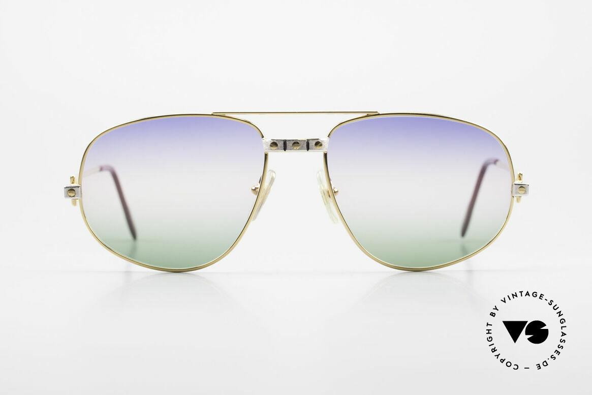 Cartier Romance Santos - L Luxus Vintage Sonnenbrille, wurde 1986 veröffentlicht und dann bis 1997 produziert, Passend für Herren