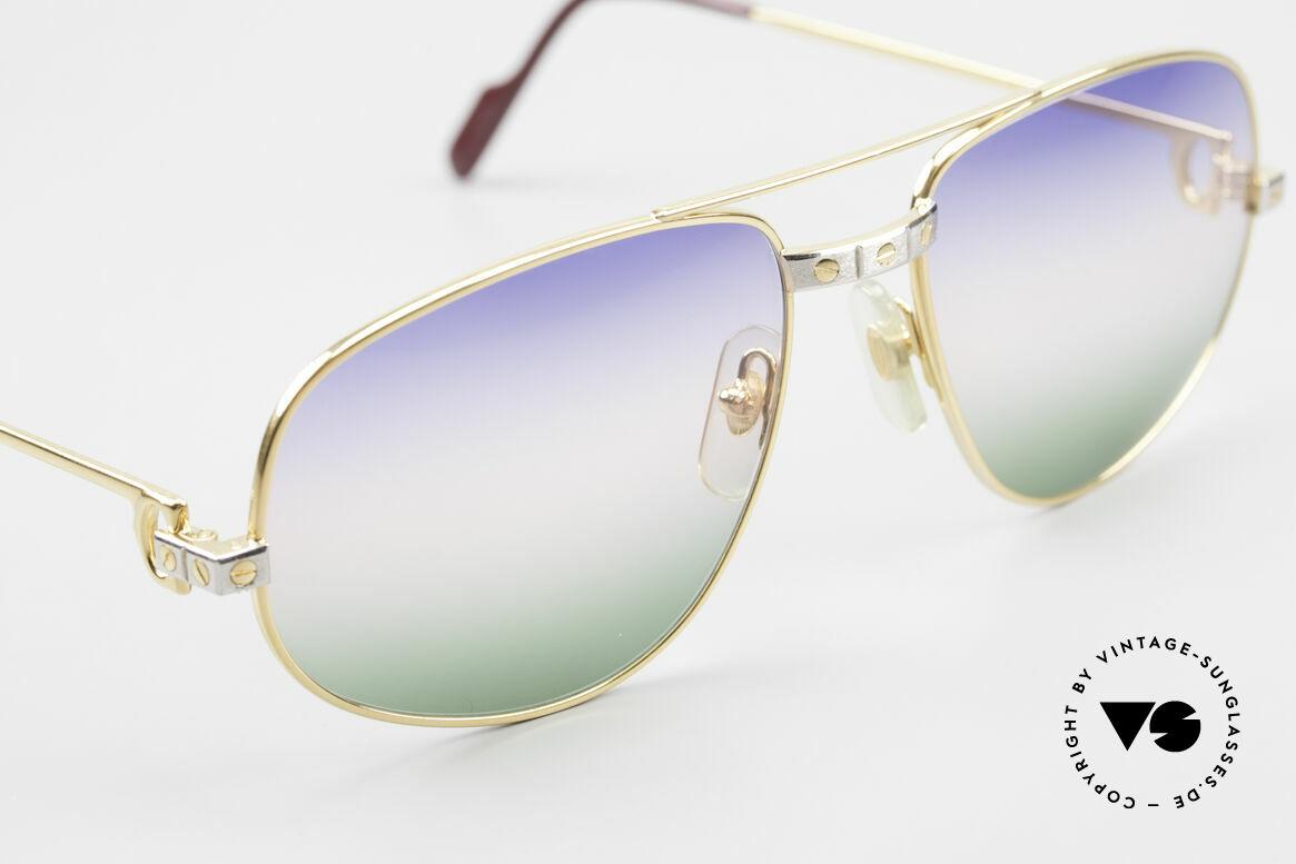 Cartier Romance Santos - L Luxus Vintage Sonnenbrille, 2nd hand, jedoch neuwertiger Zustand (inkl. Gucci Etui), Passend für Herren