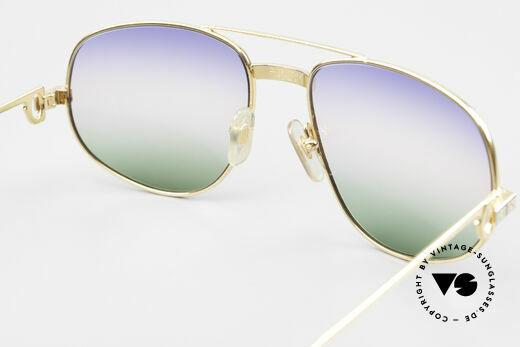 Cartier Romance Santos - L Luxus Vintage Sonnenbrille, neue Sonnengläser mit dreifach-Verlauf; 100% UV Schutz, Passend für Herren