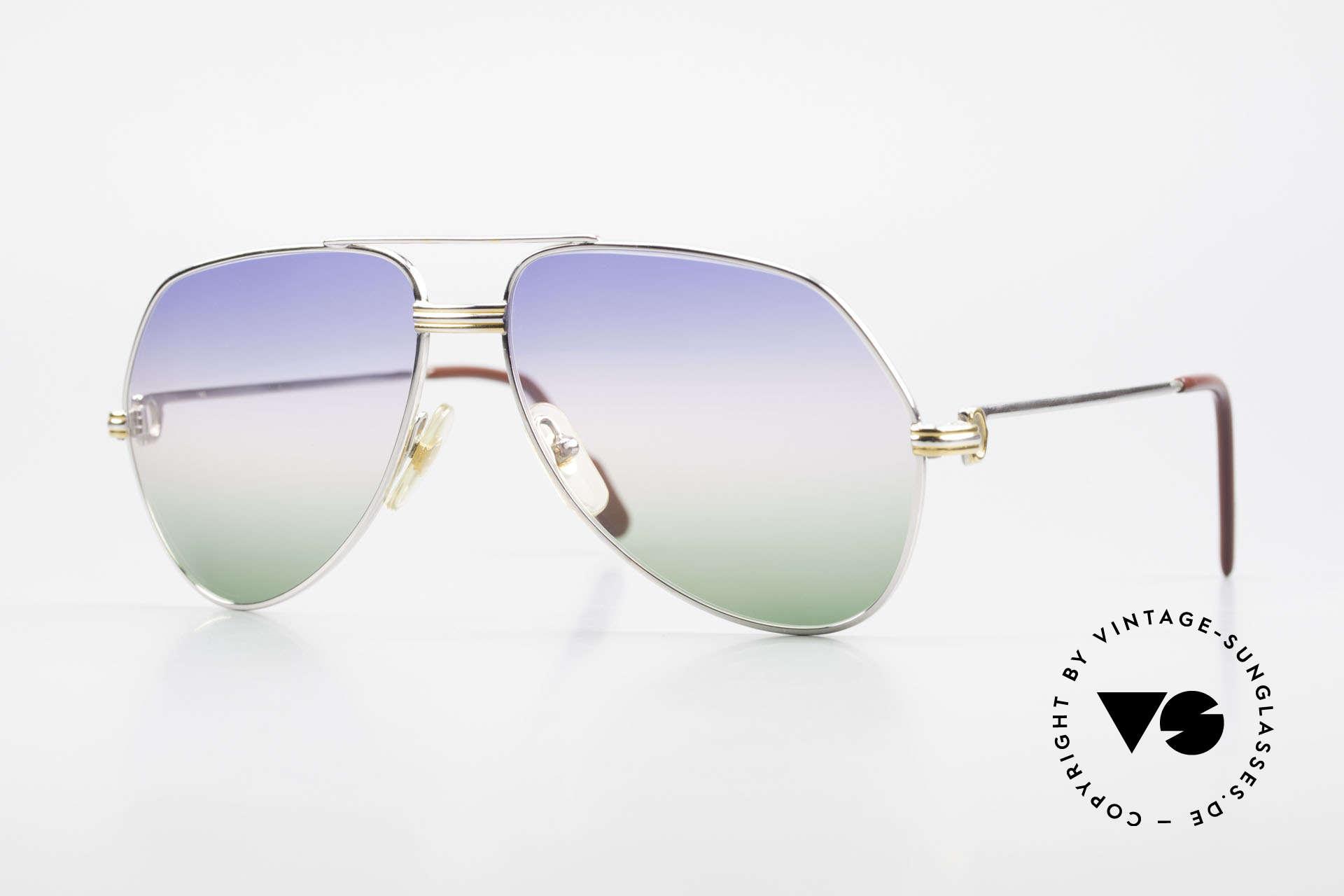 Cartier Vendome LC - M Platin 80er Brille Aviator, Vendome = das berühmteste Brillendesign von CARTIER, Passend für Herren