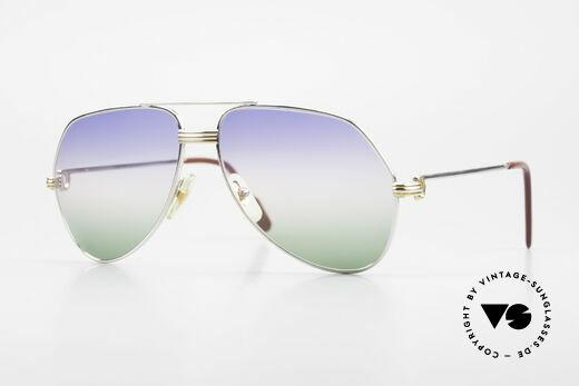 Cartier Vendome LC - M Platin 80er Brille Aviator Details