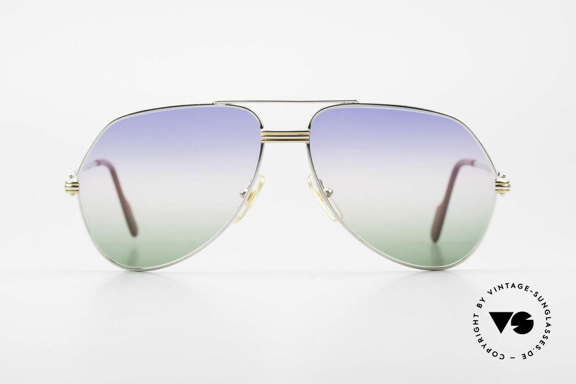 Cartier Vendome LC - M Platin 80er Brille Aviator, wurde 1983 veröffentlicht & dann bis 1997 produziert, Passend für Herren