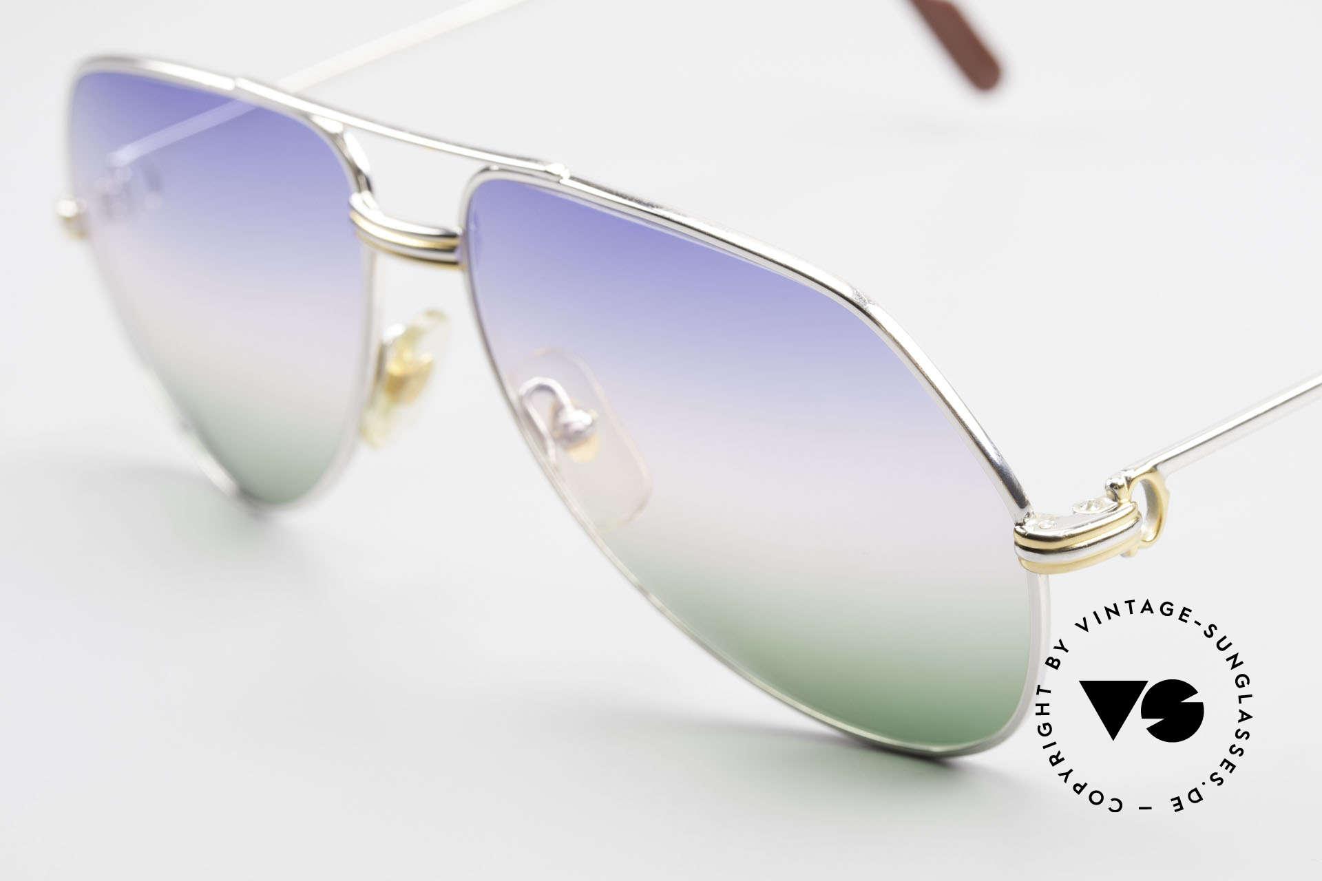 Cartier Vendome LC - M Platin 80er Brille Aviator, seltene & entsprechend teure Platin-Edition; Luxus pur, Passend für Herren