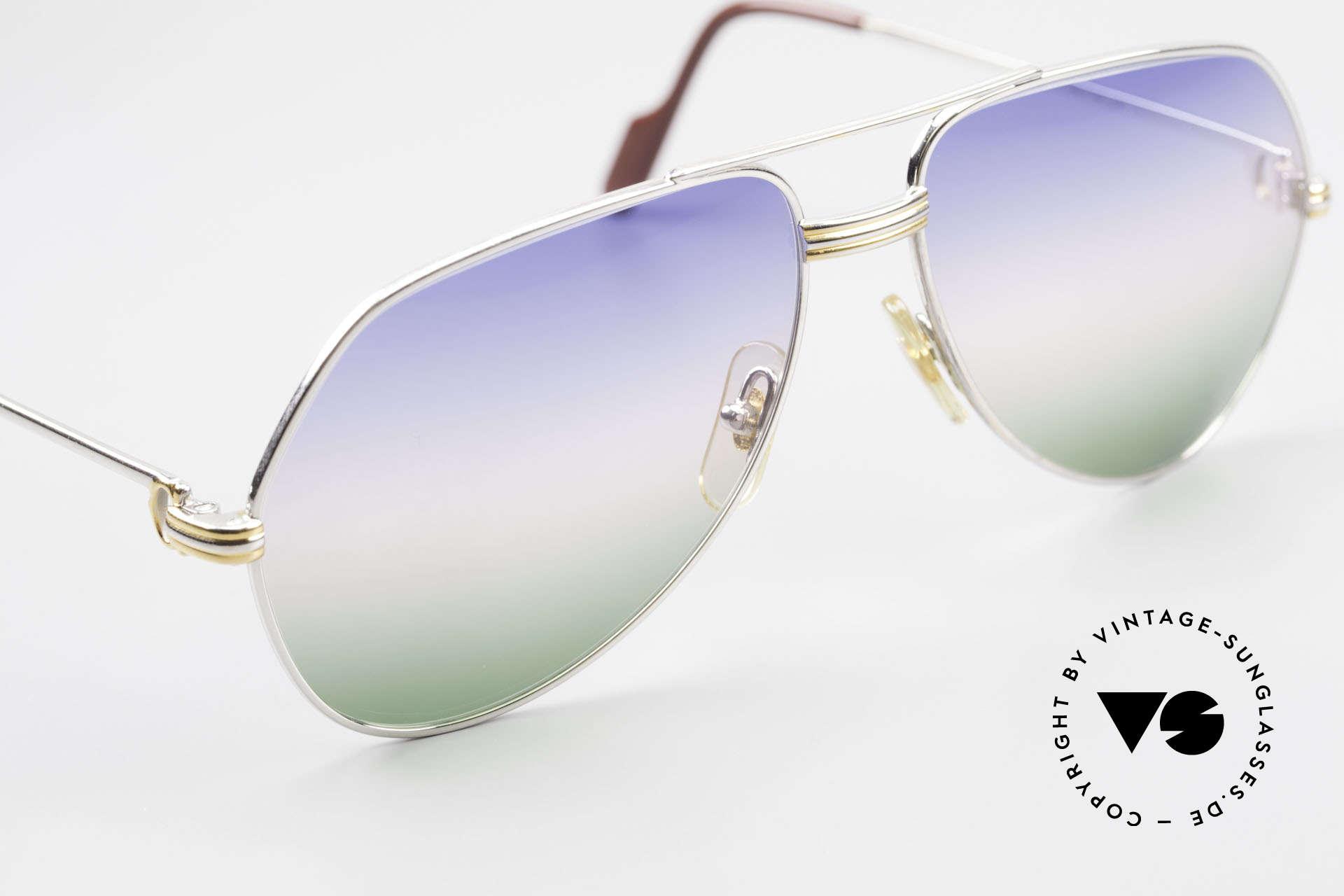 Cartier Vendome LC - M Platin 80er Brille Aviator, 2. hand Modell im neuwertigen Zustand mit Cartier Box, Passend für Herren
