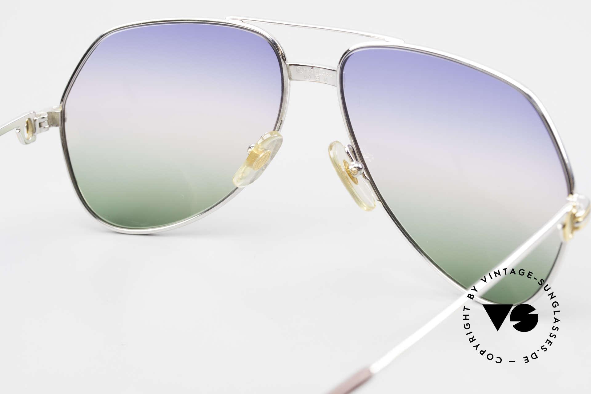 Cartier Vendome LC - M Platin 80er Brille Aviator, KEINE Retrobrille, sondern ein altes vintage ORIGINAL, Passend für Herren