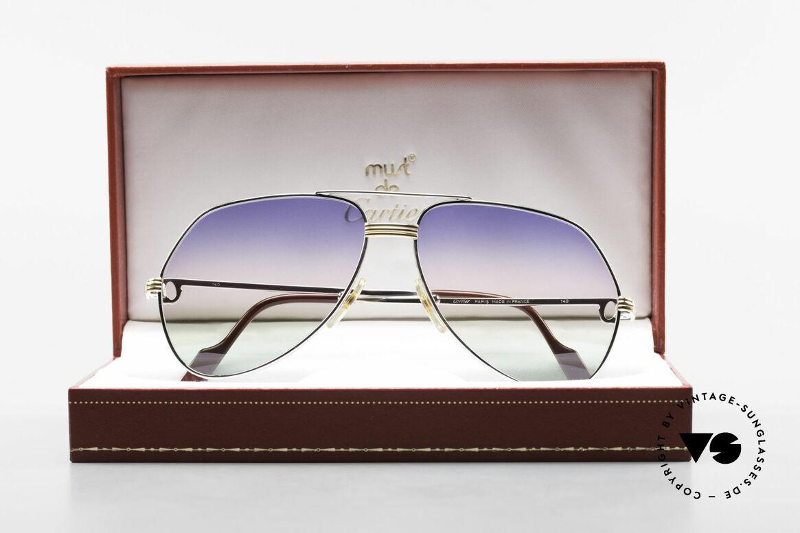 Cartier Vendome LC - M Platin 80er Brille Aviator, Größe: medium, Passend für Herren