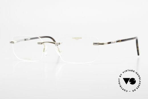 Longines 4238 90er Randlosbrille Pure Titan Details