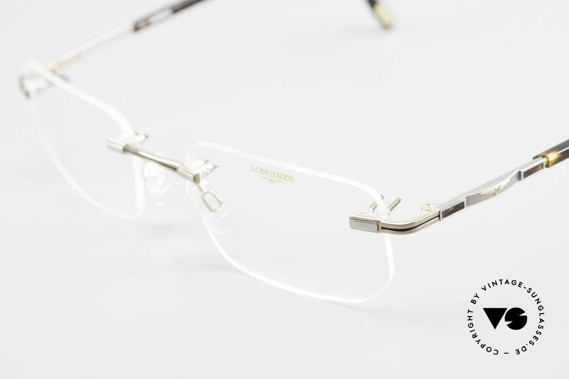 Longines 4238 90er Randlosbrille Pure Titan, ungetragen (wie alle unsere 90er Herren-Brillengestelle), Passend für Herren