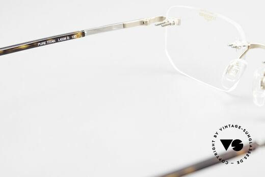 Longines 4238 90er Randlosbrille Pure Titan, Größe: large, Passend für Herren