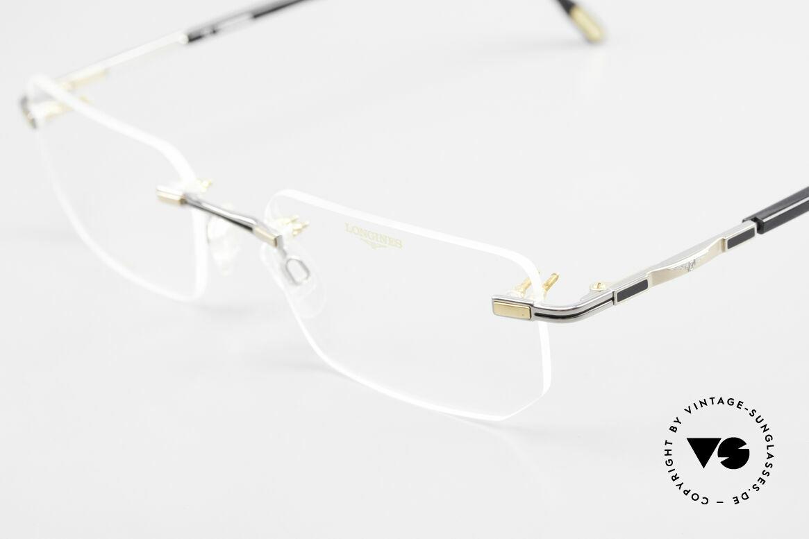 Longines 4238 Randlose 90er Brille Herren, ungetragen (wie alle unsere 90er Herren-Brillengestelle), Passend für Herren