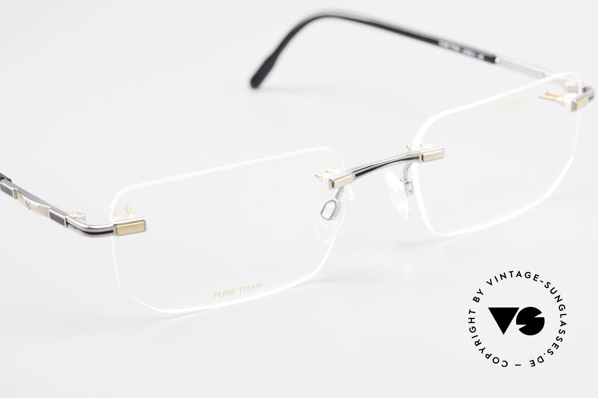 Longines 4238 Randlose 90er Brille Herren, die orig. DEMOgläser können beliebig getauscht werden, Passend für Herren
