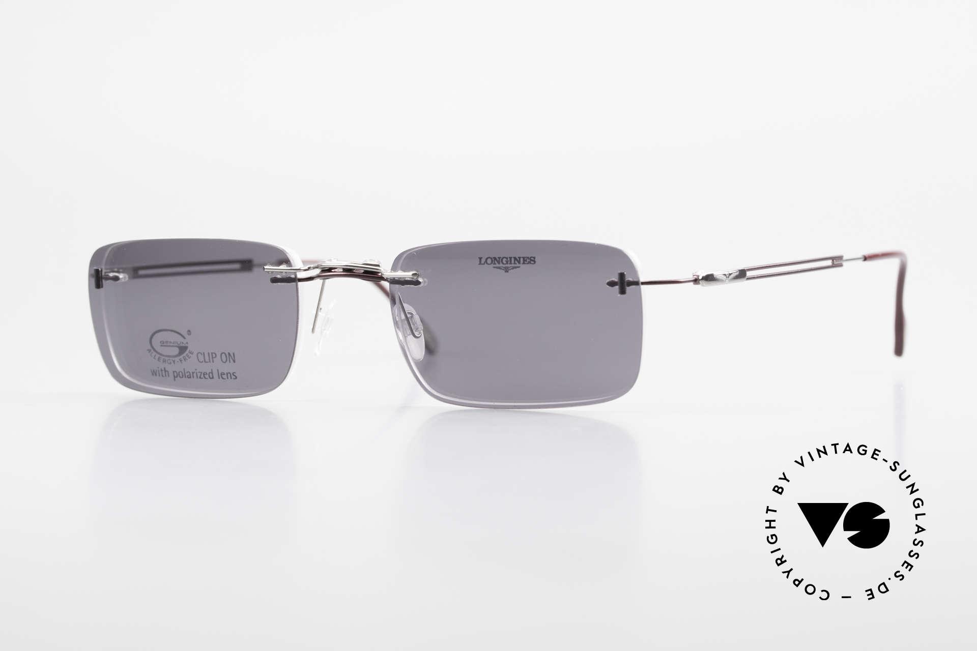 Longines 4367 Randlosbrille Polarisierend, 90er Longines Modell 4367 color 512, Größe 50-21, 135, Passend für Herren