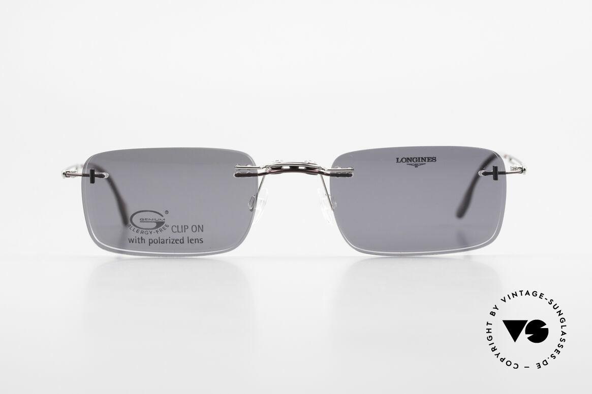 Longines 4367 Randlosbrille Polarisierend, allergiefreie, randlose 90er Jahre Brille von Longines, Passend für Herren