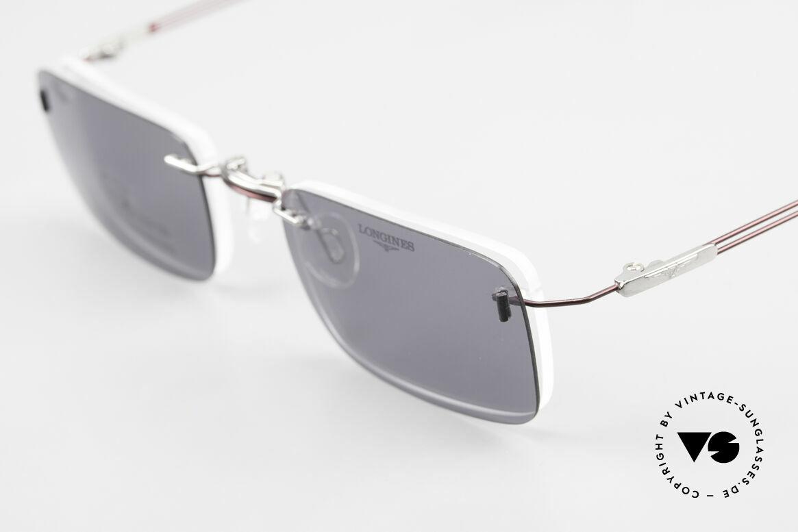 Longines 4367 Randlosbrille Polarisierend, ungetragen (wie alle unsere 90er Herren-Brillengestelle), Passend für Herren