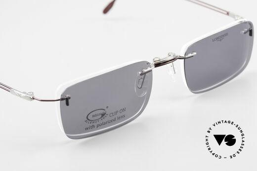 Longines 4367 Randlosbrille Polarisierend, Fassung kann natürlich beliebig optisch verglast werden, Passend für Herren