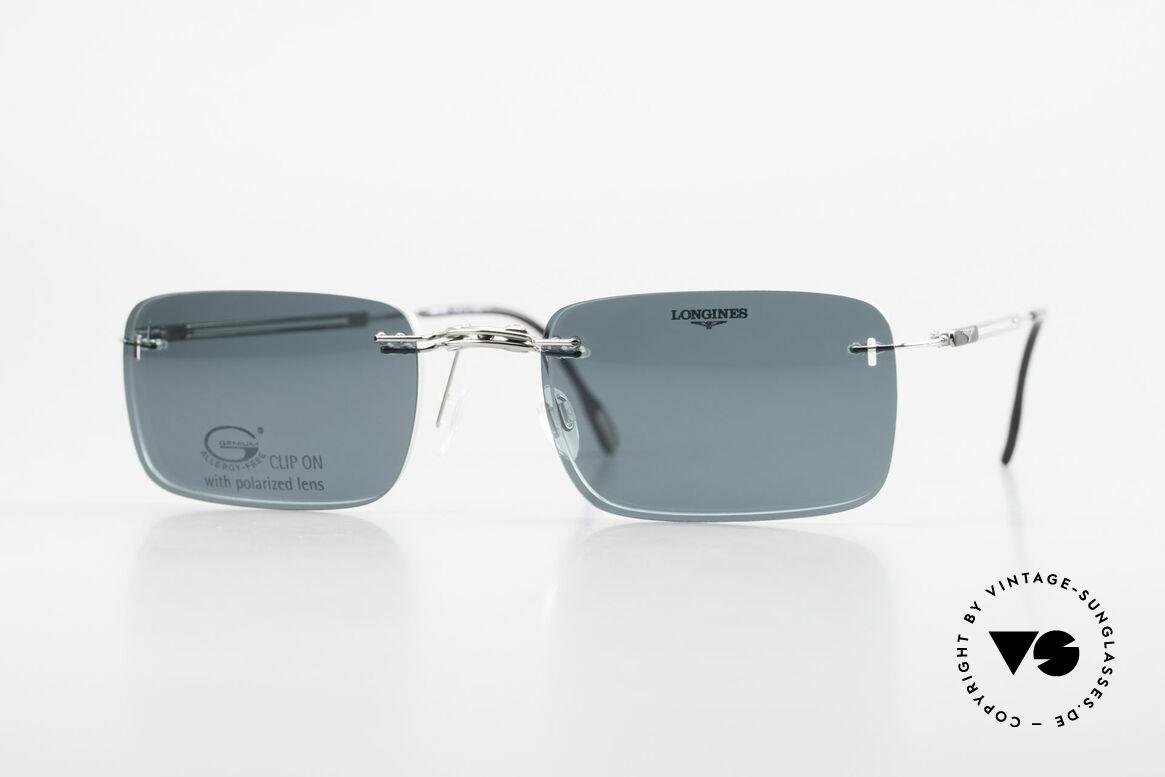 Longines 4367 Randlose Brille Polarisierend, 90er Longines Modell 4367 color 330, Größe 53-21, 140, Passend für Herren