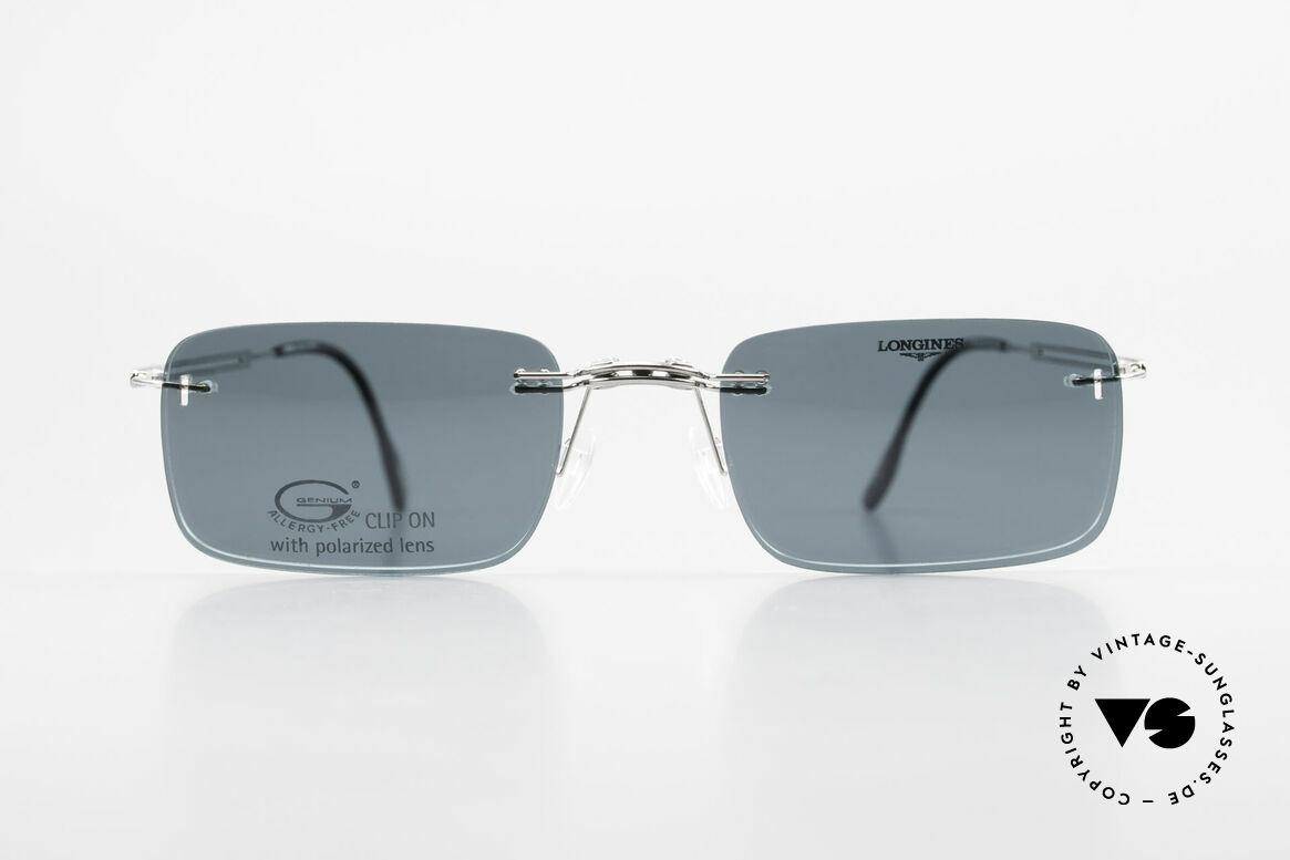 Longines 4367 Randlose Brille Polarisierend, allergiefreie, randlose 90er Jahre Brille von Longines, Passend für Herren