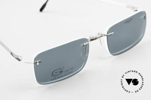 Longines 4367 Randlose Brille Polarisierend, Fassung kann natürlich beliebig optisch verglast werden, Passend für Herren