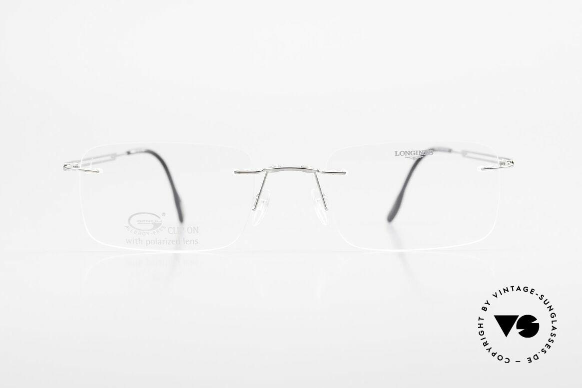 Longines 4367 Randlose Brille Polarisierend, Größe: large, Passend für Herren