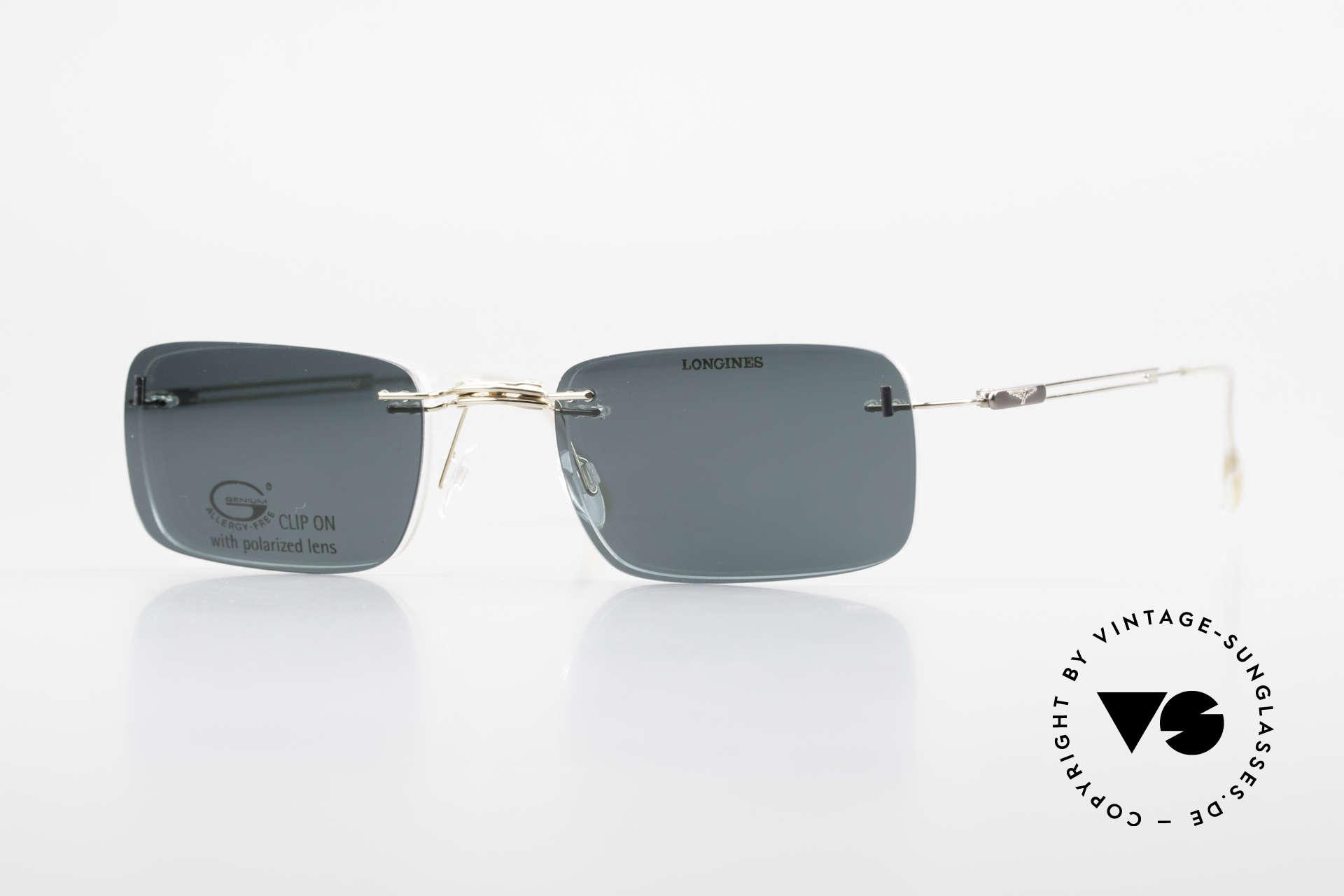 Longines 4367 Polarisierende Brille Randlos, 90er Longines Modell 4367 color 130, Größe 50-21, 135, Passend für Herren