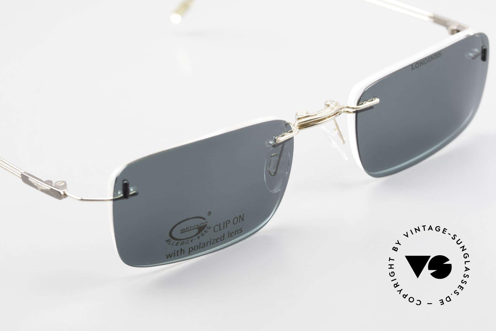 Longines 4367 Polarisierende Brille Randlos, Größe: medium, Passend für Herren