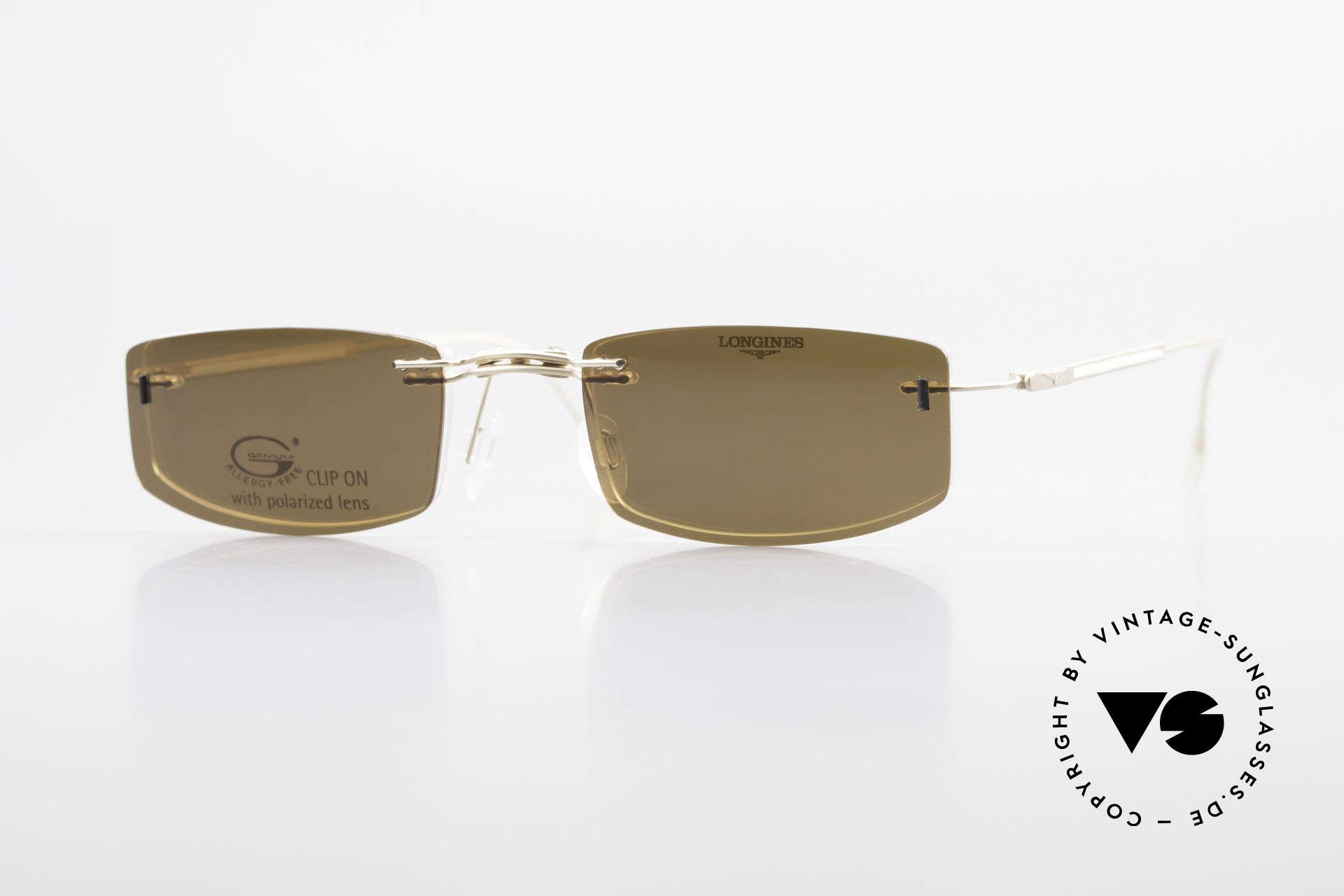 Longines 4378 Polarisierende Randlosbrille, 90er Longines Modell 4378 color 120, Größe 49-21, 140, Passend für Herren und Damen