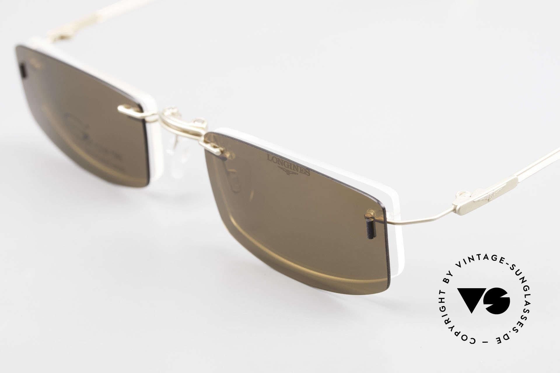 Longines 4378 Polarisierende Randlosbrille, ungetragen (wie alle unsere 90er Herren-Brillengestelle), Passend für Herren und Damen