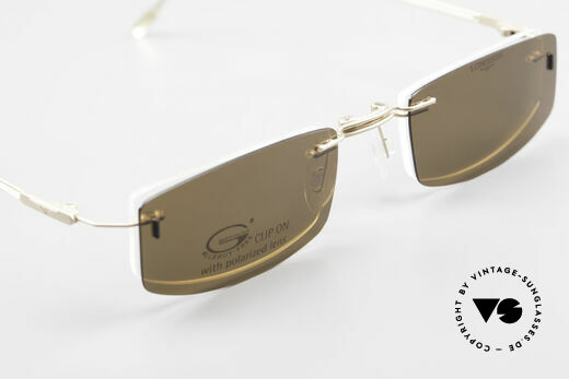 Longines 4378 Polarisierende Randlosbrille, die DEMOgläser können durch optische ersetzt werden, Passend für Herren und Damen