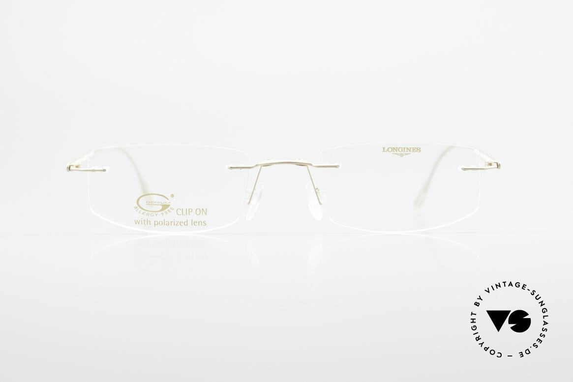 Longines 4378 Polarisierende Randlosbrille, Größe: medium, Passend für Herren und Damen