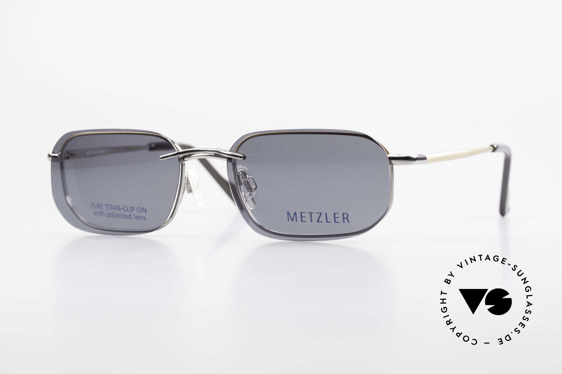 Metzler 1716 90er Titanbrille Polarisierend, 90er Metzler Titan-Brille 1716, col 023, Gr. 52/19, 135, Passend für Herren