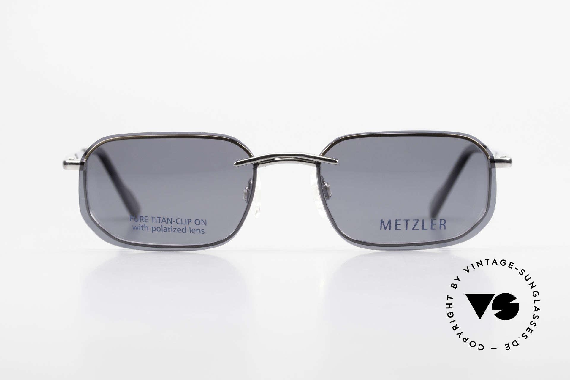 Metzler 1716 90er Titanbrille Polarisierend, sehr leichte Fassung mit flexiblen Federscharnieren, Passend für Herren
