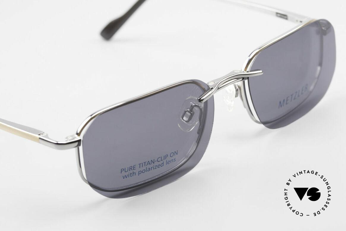 Metzler 1716 90er Titanbrille Polarisierend, ungetragen; wie all unsere alten Herren-Brillengestelle, Passend für Herren
