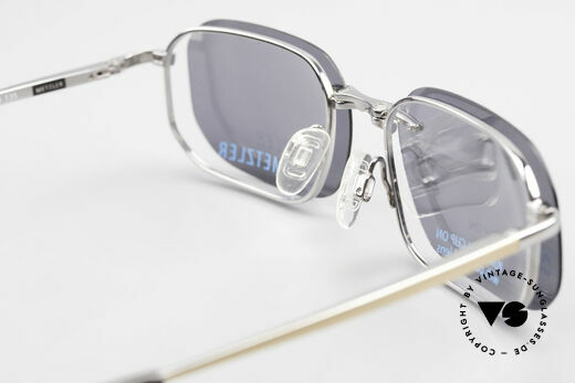 Metzler 1716 90er Titanbrille Polarisierend, Fassung kann natürlich beliebig optisch verglast werden, Passend für Herren