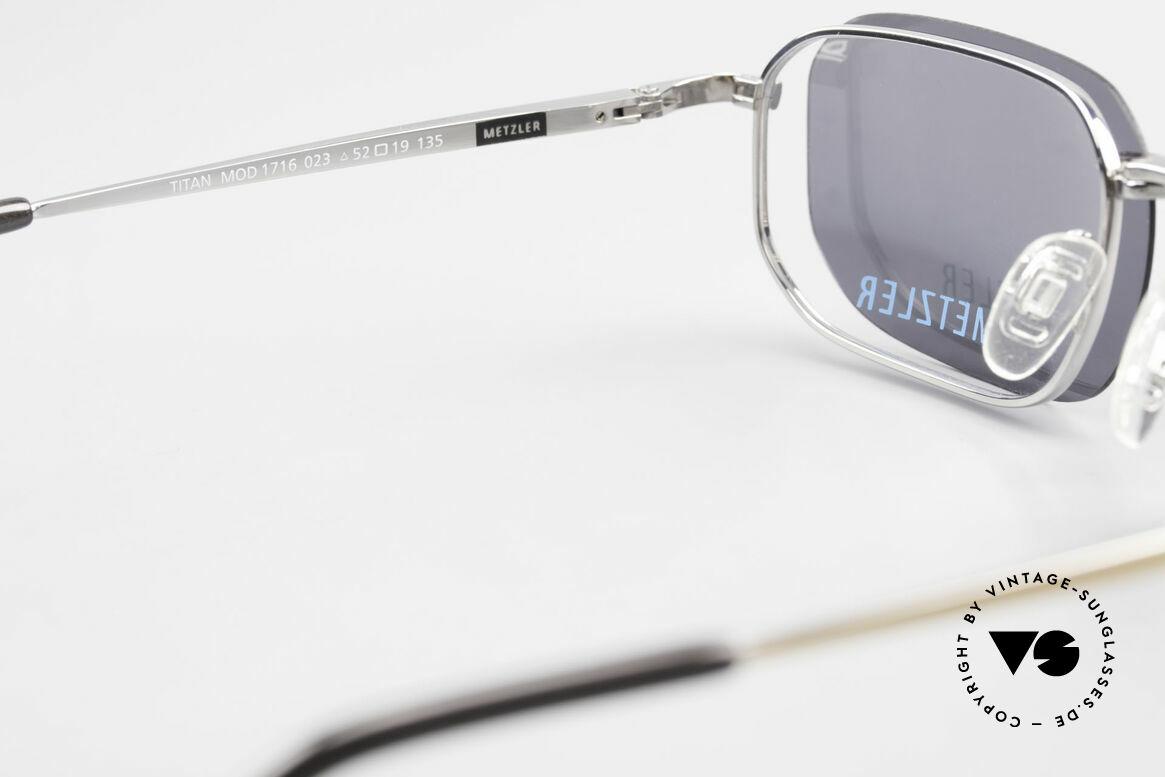 Metzler 1716 90er Titanbrille Polarisierend, Größe: medium, Passend für Herren