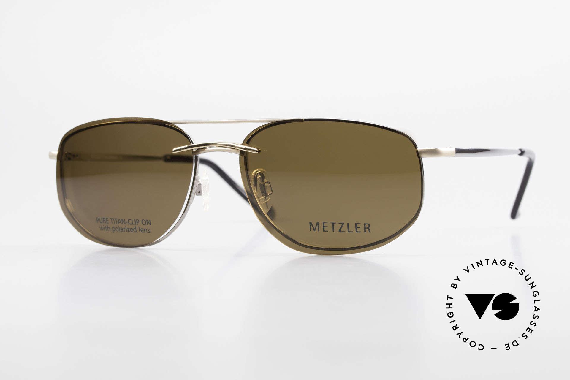 Metzler 1715 Titanbrille 90er Polarisierend, 90er Titan Metzler Brille 1715, col 023, Gr. 58/18, 140, Passend für Herren
