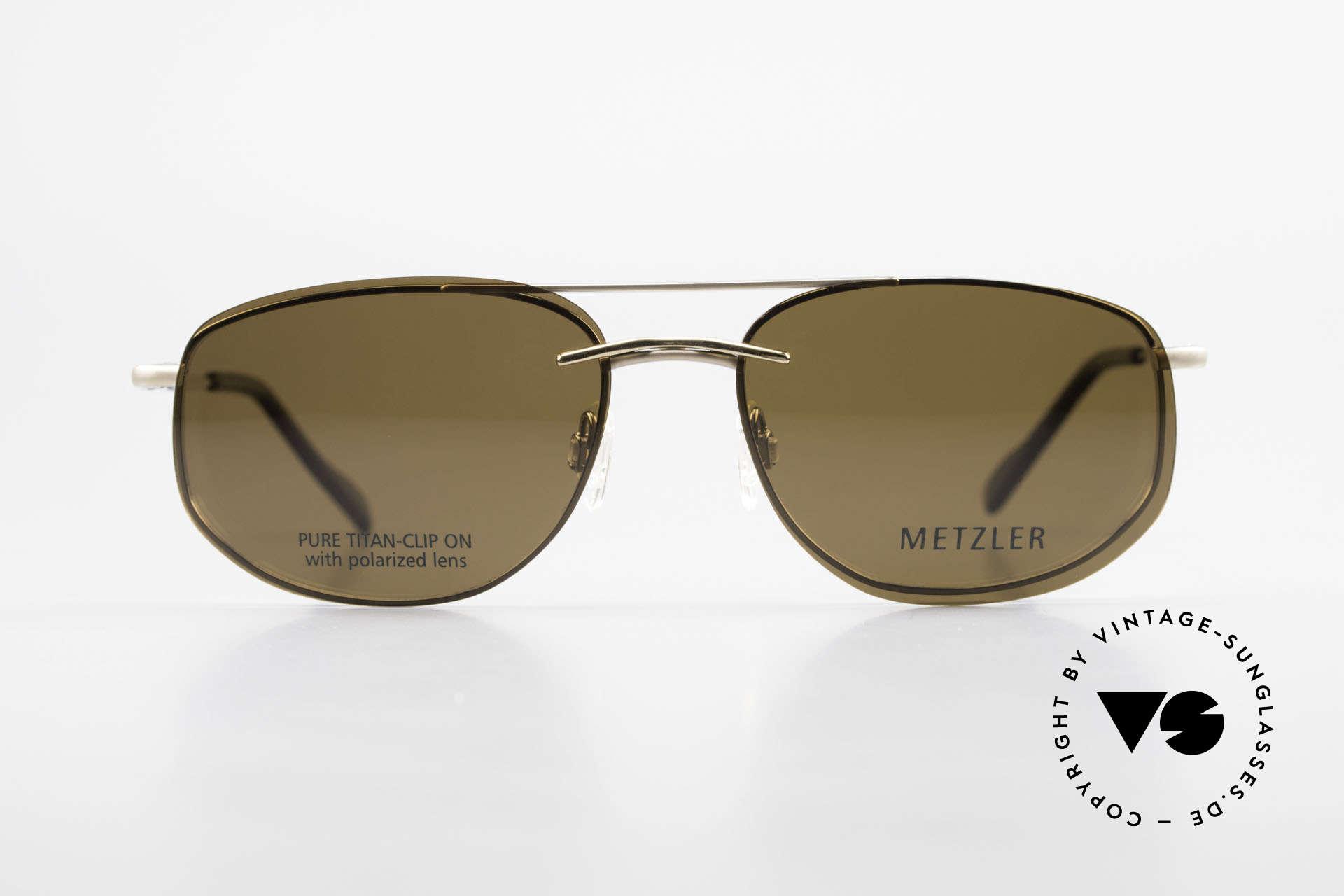 Metzler 1715 Titanbrille 90er Polarisierend, sehr leichter Rahmen mit flexiblen Federscharnieren, Passend für Herren