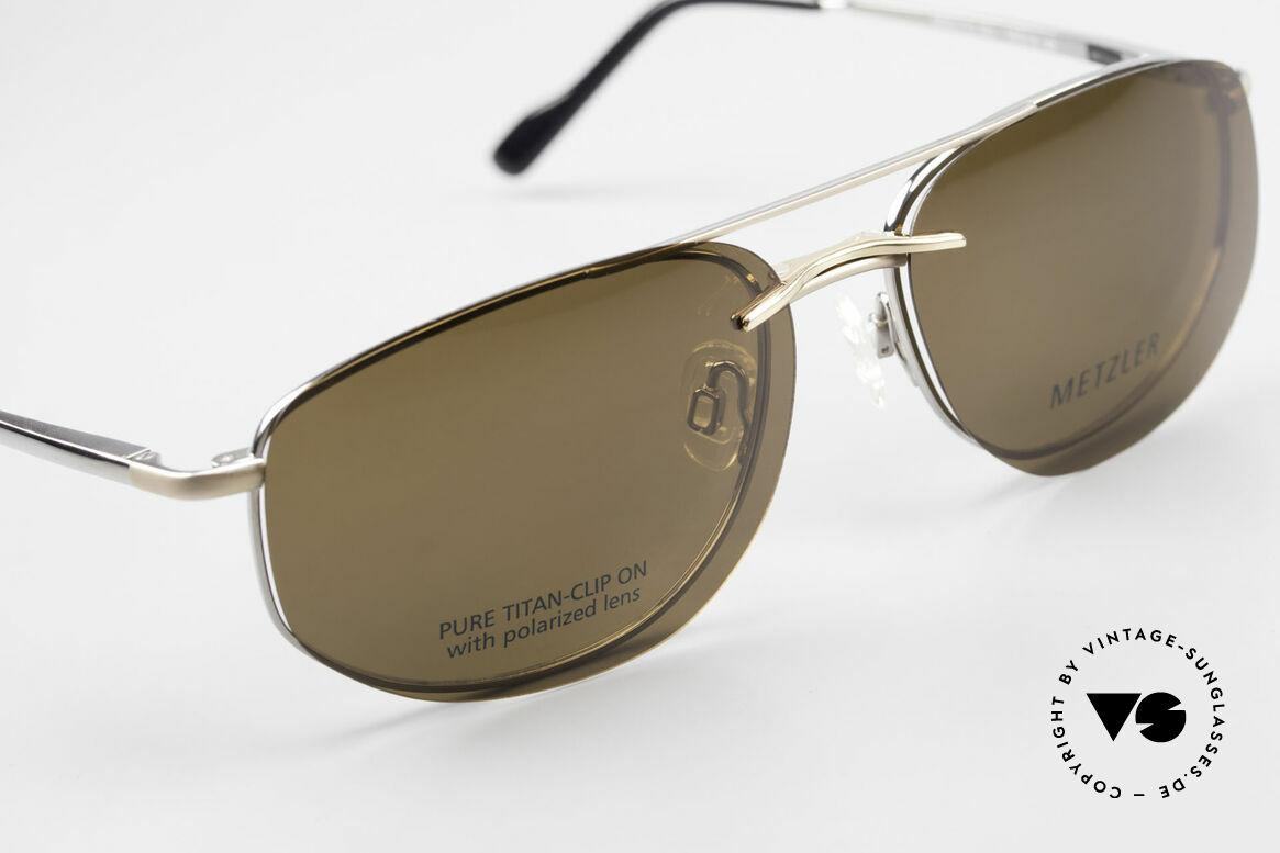 Metzler 1715 Titanbrille 90er Polarisierend, ungetragen; wie all unsere alten Metzler-Brillengestelle, Passend für Herren